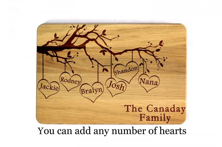 Mariage - Mothers day gift for mom gift for womens gifts Gift for her Personalized Cutting Board Mother's day gift Mom Gift Family tree Mother Gift