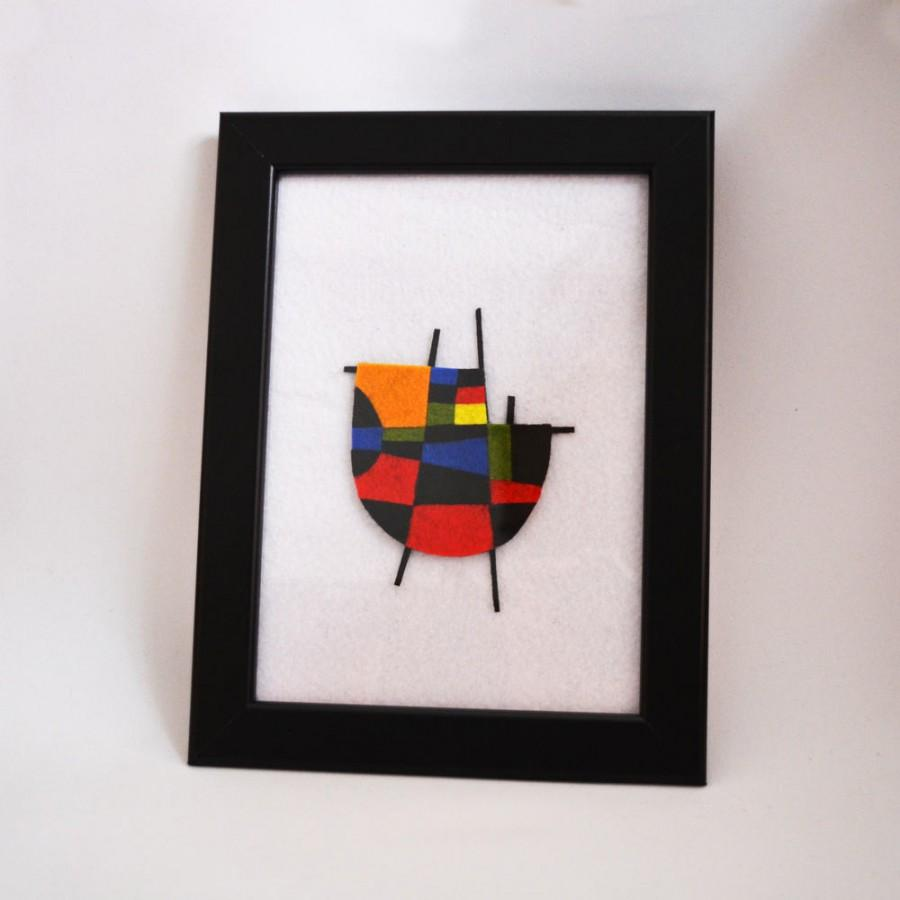 Mariage - Design with abstract felt inspired by the work of Joan Miró