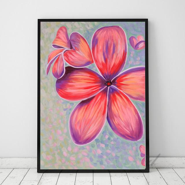 Mariage - Large Art Print Plumeria Flowers Art Print Plumeria art Plumeria plant Plumeria print Flower painting Plumeria painting Contemporary art