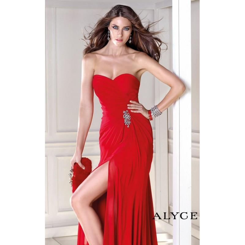 Wedding - Strapless Beaded Dresses by Alyce BDazzle 35718 - Bonny Evening Dresses Online