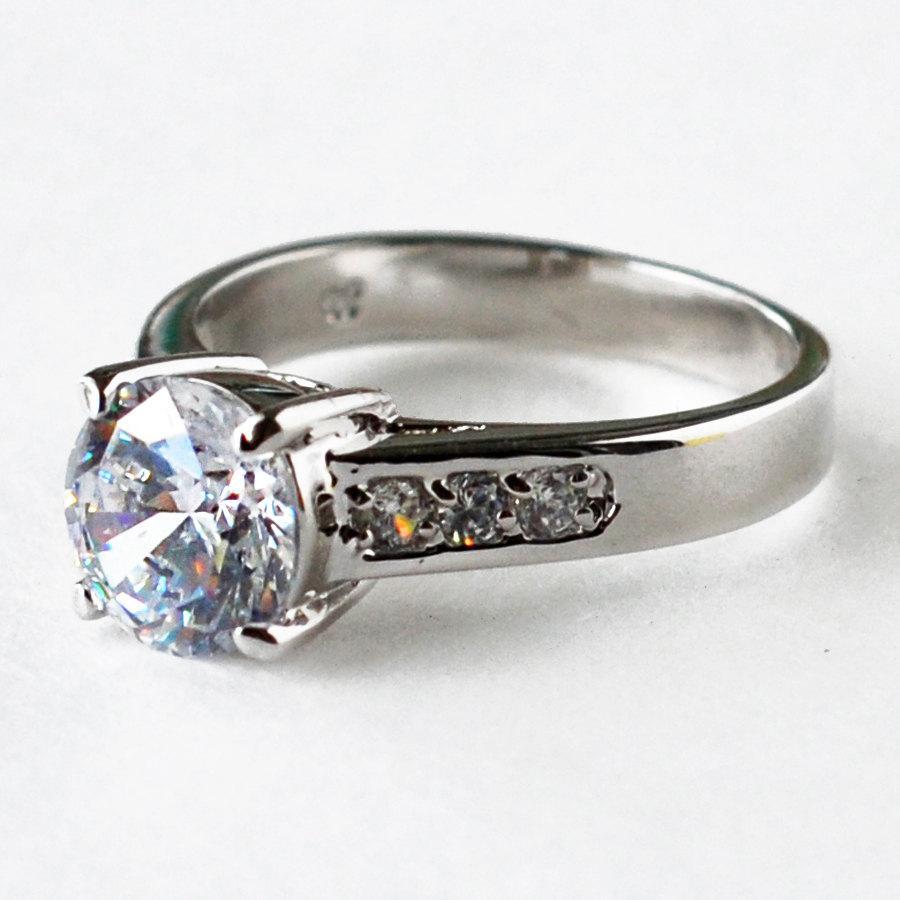 Mariage - cz ring, cz wedding ring, cz engagement ring, engagement ring, solitaire ring, anniversary ring size 5 6 7 8 9 10 - MC1074871AZ