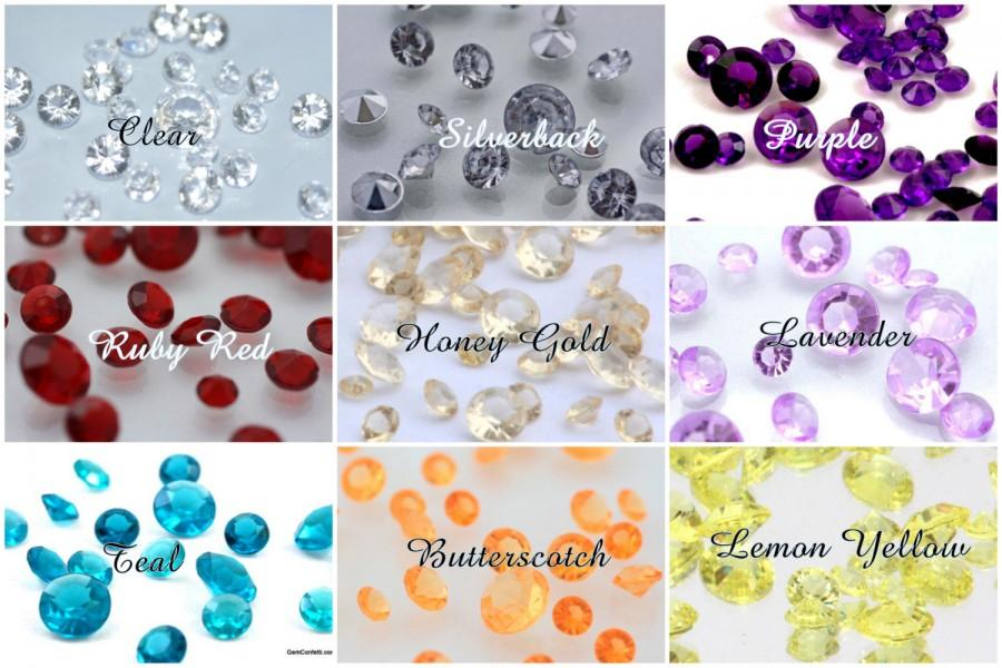 Свадьба - 1000 pcs-10mm-Diamond Confetti- (4 carat) Table Scatter for Centerpieces, Wedding Party Decor, Acrylic Crystal, Vase Filler-1.5 US meas. cup
