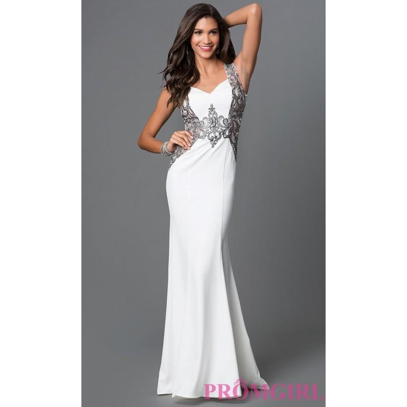 Mariage - Ivory Floor Length Sleeveless Prom Dress with Lace and Bead Detailing by Elizabeth K - Discount Evening Dresses