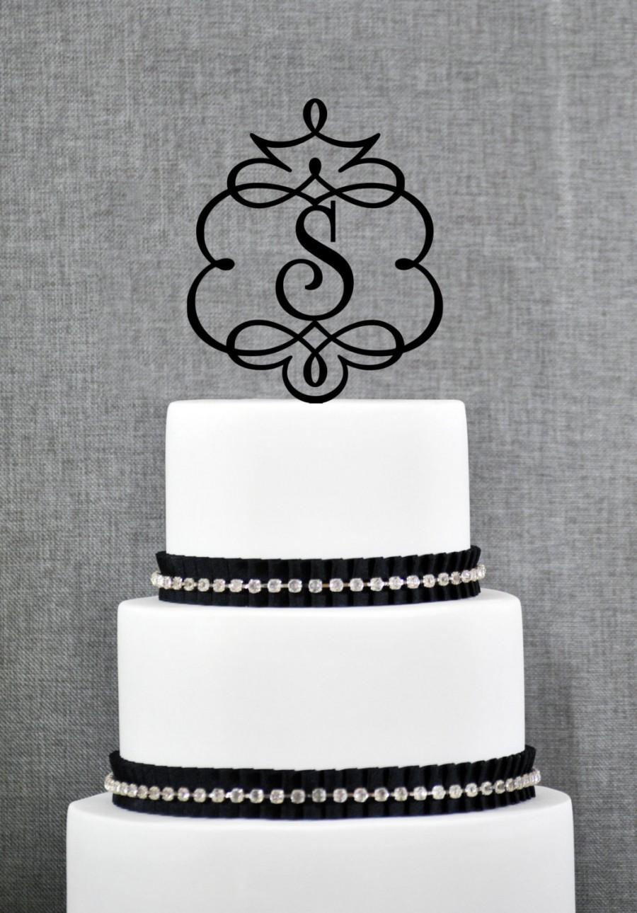 Свадьба - Framed Monogram Topper, Monogram Wedding Topper, Elegant ornate Monogram topper- (T086)
