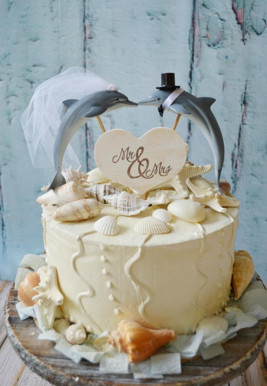 Свадьба - Dolphin couple wedding cake topper-Porpoise wedding cake topper-Beach themed wedding-Beach wedding-Dolphin