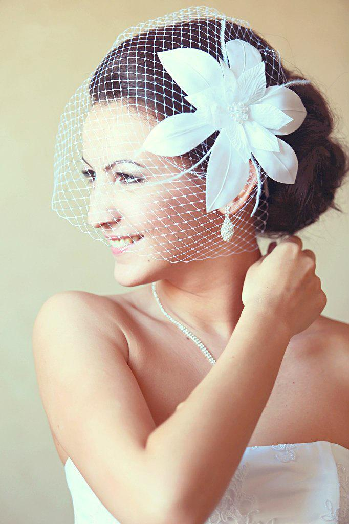 Birdcage Veil Wedding Hairstyles Wedding Fascinator Bridal