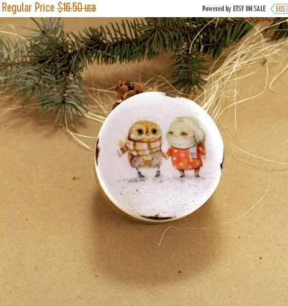 Свадьба - SPRING SALE Me and You Wooden Box , valentine's day owl gifts , small round box, Wedding box, Marriage Proposal, ring bearer box