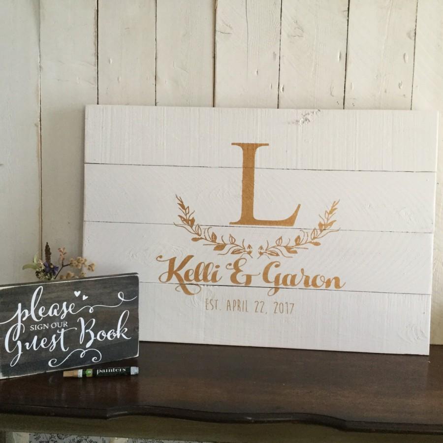 Wedding Guest Book Alternative - Wood Wedding Guestbook - Rustic ...