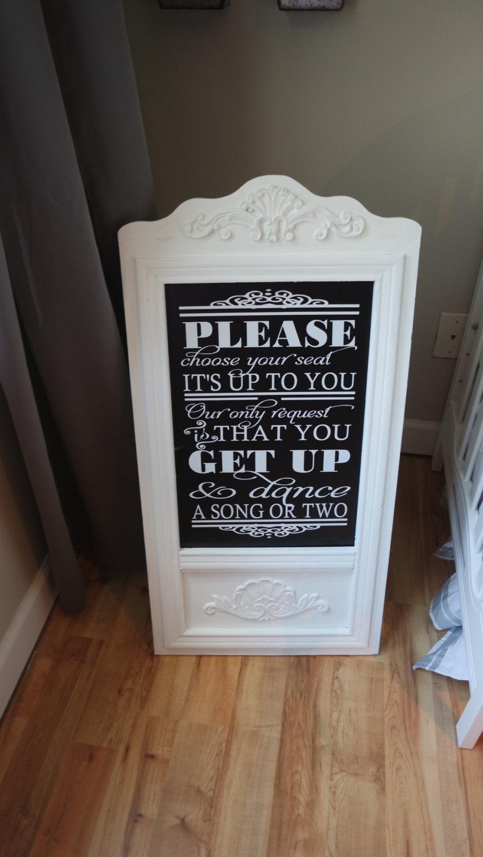 Mariage - Wedding Easel, Shabby Chic Wedding, Wedding Chalkboard Easel, Wedding Sign, Chalkboard Sign