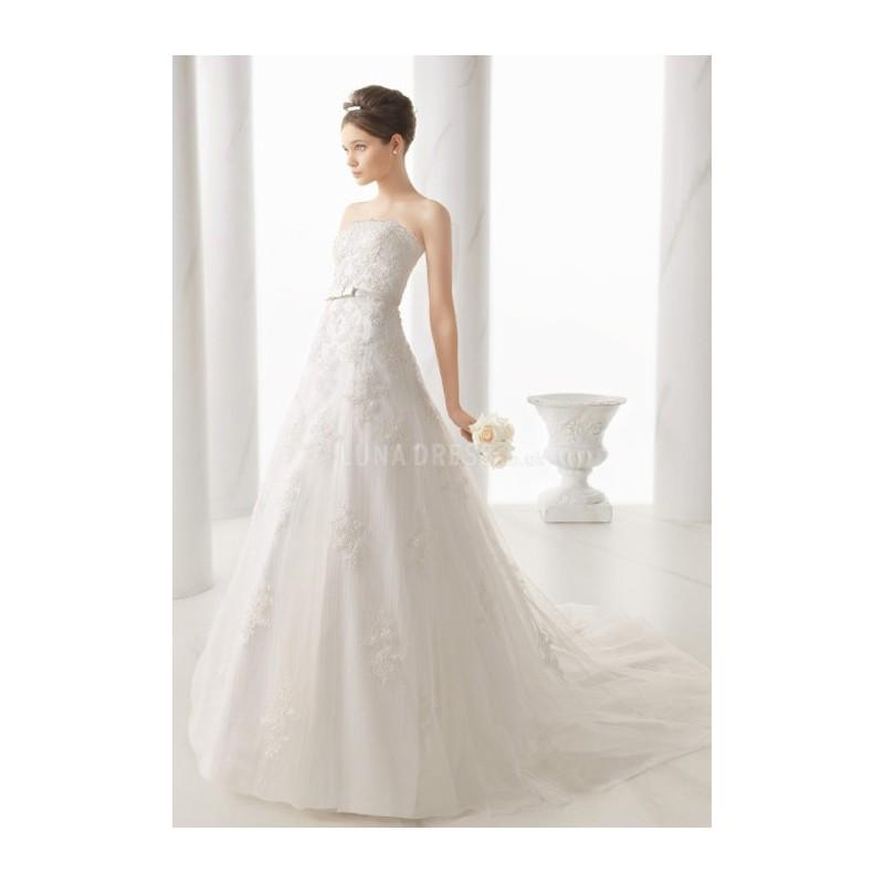 Свадьба - Exquisite A line Strapless Lace Floor Length Wedding Dress With Sash/ Ribbon - Compelling Wedding Dresses