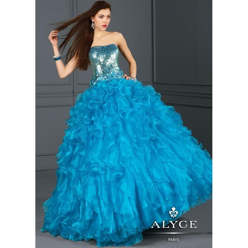 Wedding - Alyce 9145 Jeweled Organza Ball Gown - 2017 Spring Trends Dresses