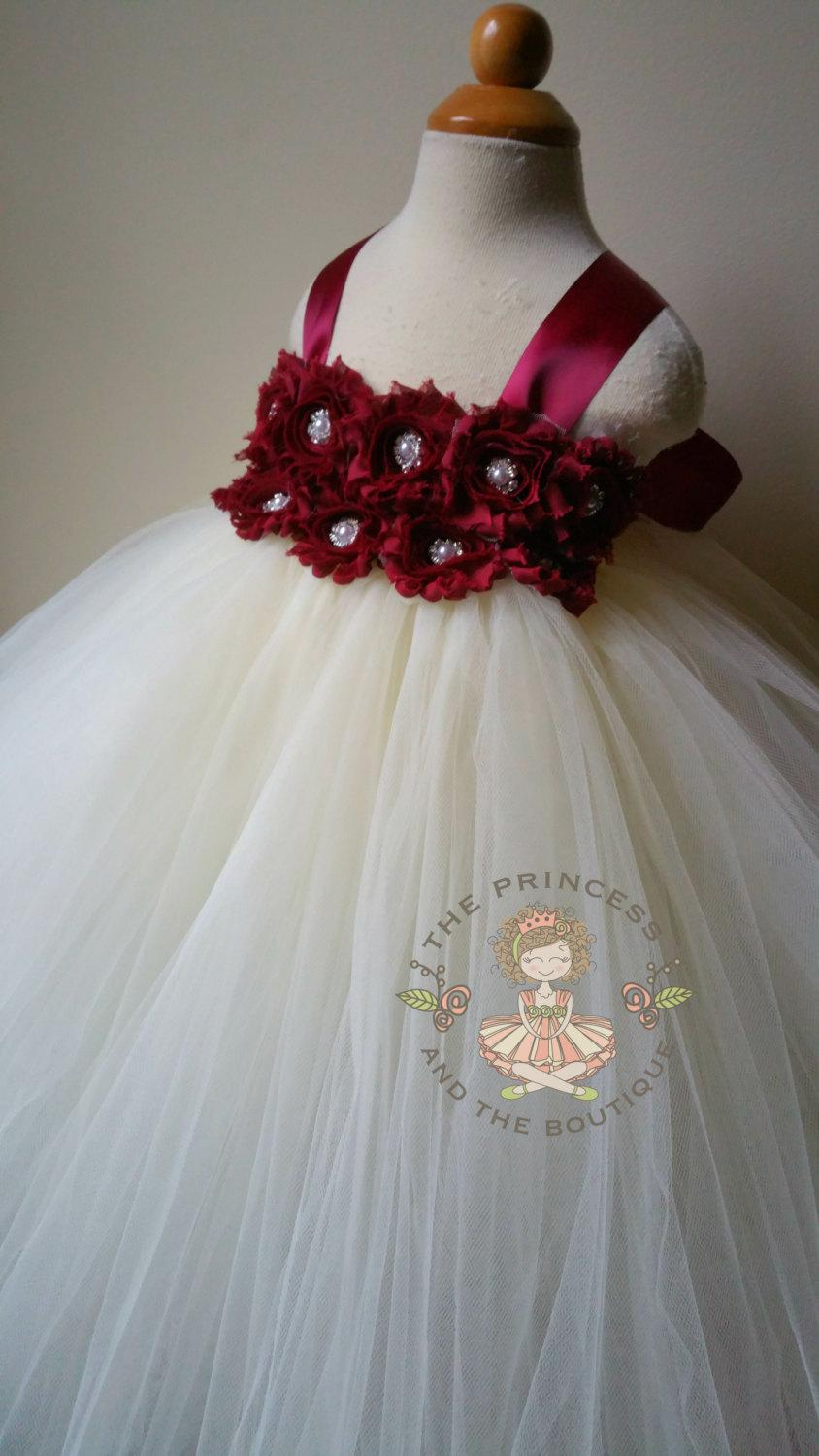 Свадьба - flower girl dress, flower girl dresses, burgundy flower girl dress, ivory flower girl dress, baby dress, girl dress, birthday dress, wedding