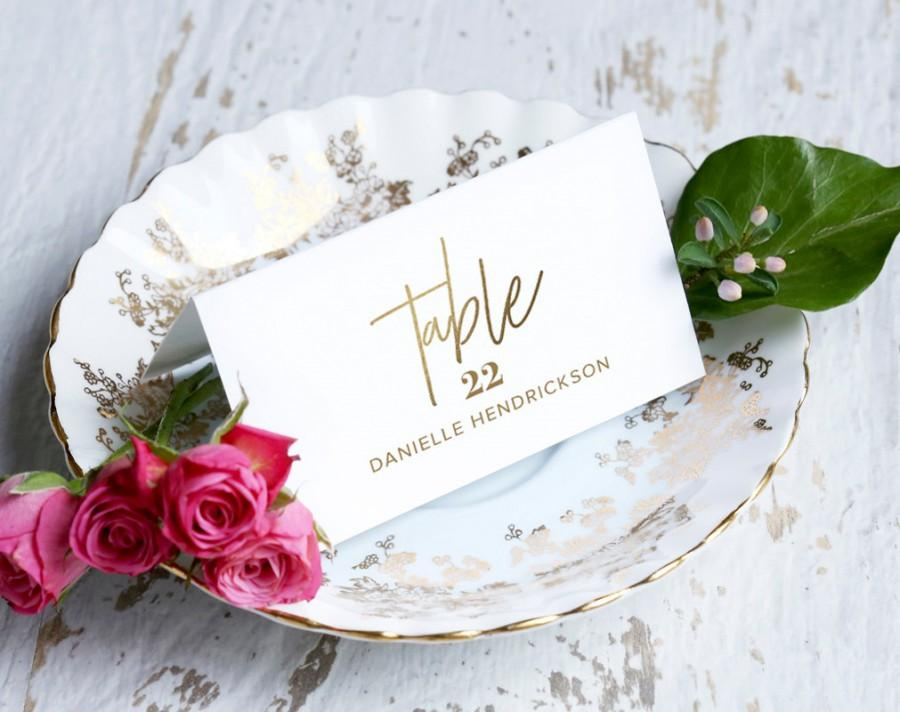 Mariage - Gold Wedding Place Cards, Wedding Place Card Printable, Place Card Template, Wedding Printable, Gold Wedding, PDF Instant Download #BPB323_6