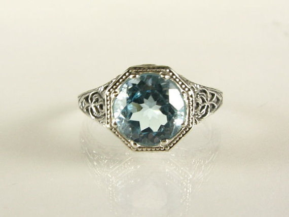 Свадьба - Aquamarine Ring-Aquamarine Engagement Ring,Wedding Ring,Aquamarine Gemstone,Mothers Day Gift-Aquamarine Studs
