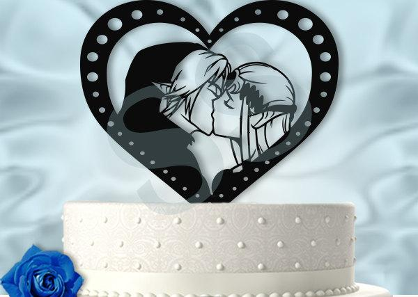 Свадьба - Video Game Adventure Kiss Wedding Cake Topper