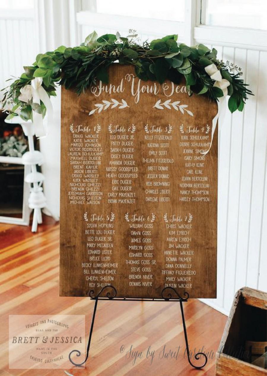Свадьба - Rustic Wedding Seating Chart - Large - 2' x 3' - WS-94
