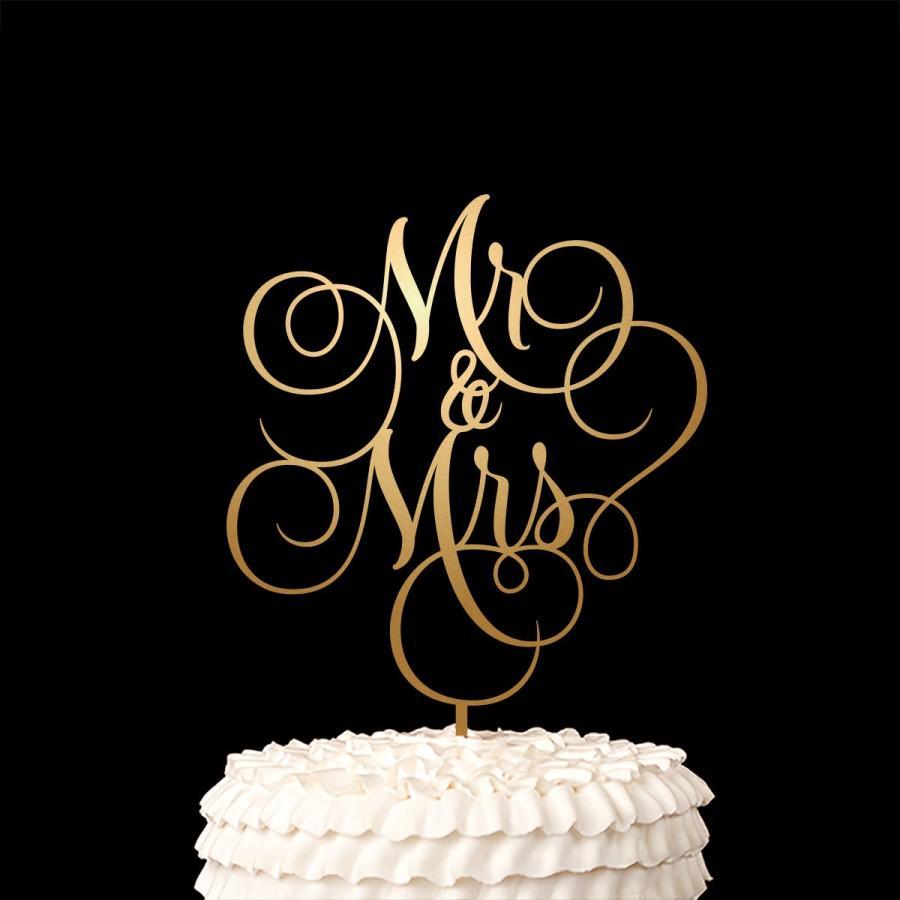 Свадьба - Mr and Mrs Cake Topper - Wedding Cake Topper - Ballroom Collection