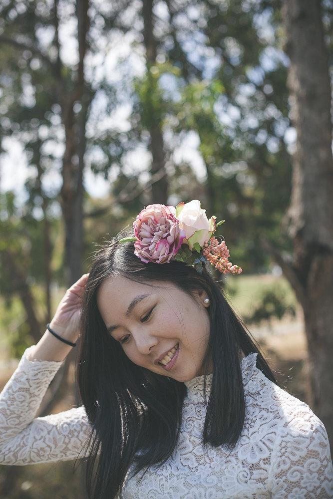 Mariage - Rose flower crown, floral crown, bridal headpiece, rustic rose flower crown, silk flower crown, hair accessories, wedding hair accessories