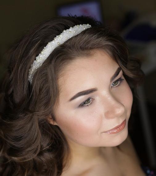 Wedding - Wedding Pearl headband handmade
