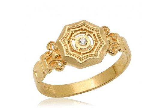 Свадьба - Diamond Ring, 14k Gold Classic Diamond Signet Engagement Ring, Diamond Engagement Ring, Anniversary Ring, Gift FOR HER, Statement Ring
