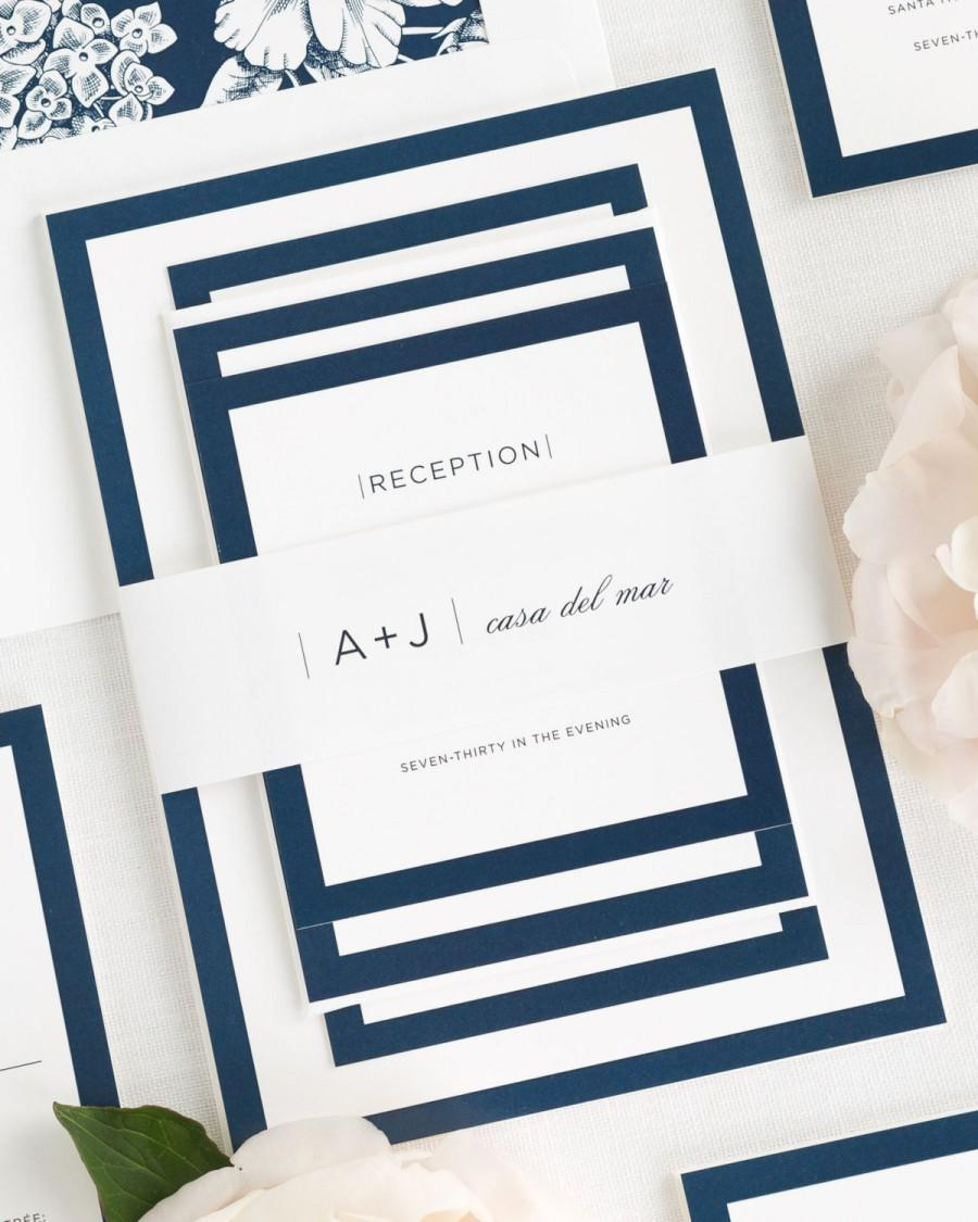 Hochzeit - Sophisticated Modern Wedding Invitations - Sample