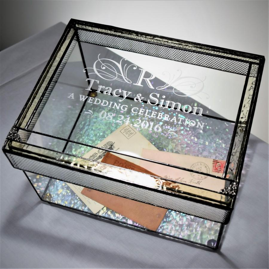 Wedding Card Boxes For Receptions: Wedding Card Box Personalized Engraved Large Card Box