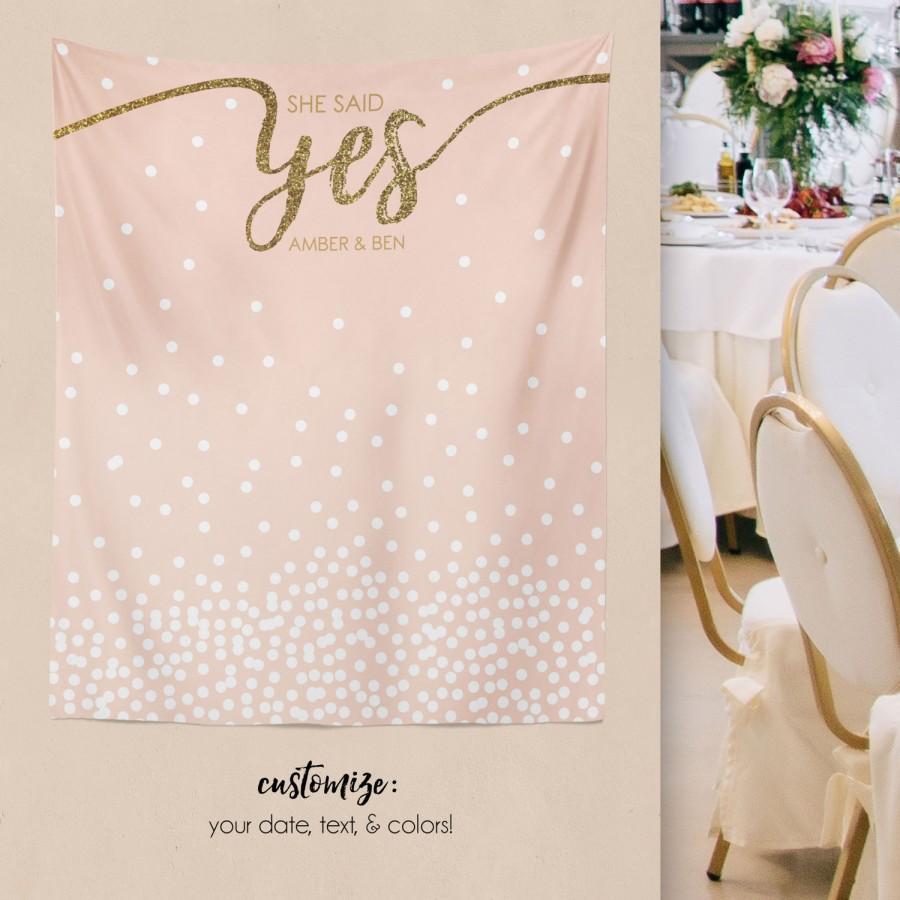 Wedding - Wedding Backdrop, Engagement Backdrop, Bridal Shower Decorations, Bridal Shower Backdrop, Engagement Party Decorations/ W-G23-TP MAR1 AA3