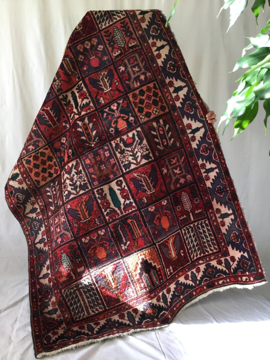 Wedding - Armenian rug, unique colorful rich handmade vintage wool 5x7ft