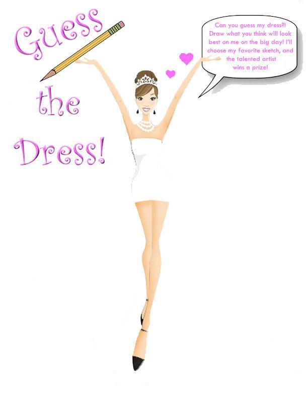 Wedding - Guess The Bride's Dress! (Brunette Updo) -Printable Design