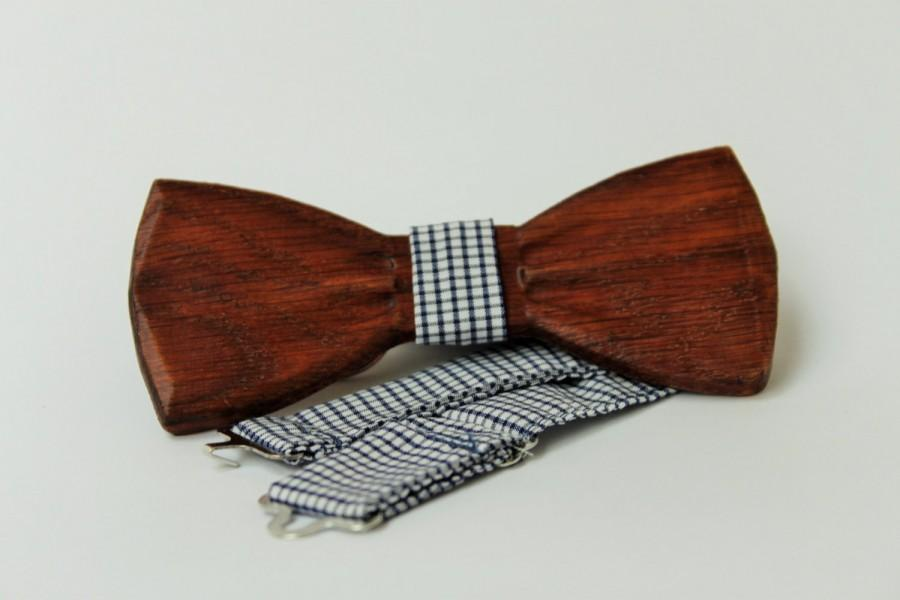 6d889d14b670 Mens Wooden Bow Tie With Pocket Square. Wood Handmade BowTie ...
