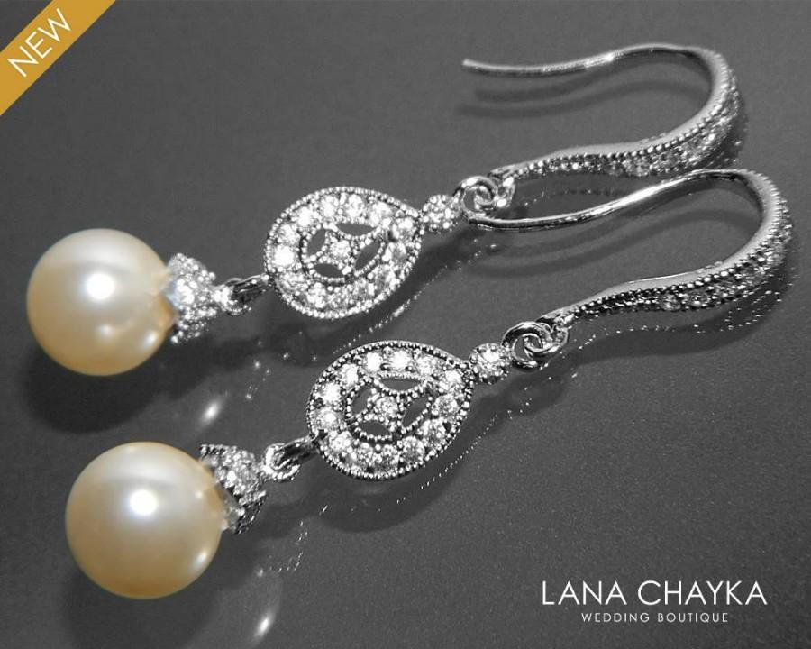 Bridal pearl chandelier earrings swarovski 8mm ivory pearl earrings bridal pearl chandelier earrings swarovski 8mm ivory pearl earrings small pearl cz wedding earrings wedding pearl jewelry prom pearl jewelry 3290 usd aloadofball Gallery