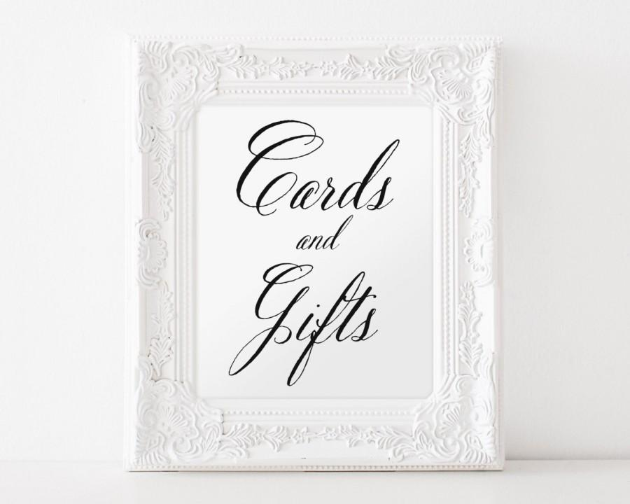 Mariage - Cards And Gifts, Wedding Sign, Gifts And Cards, Wedding Cards Sign, Wedding Decor, Table Sign For Cards, Reception Sign, Wedding Sign, C1