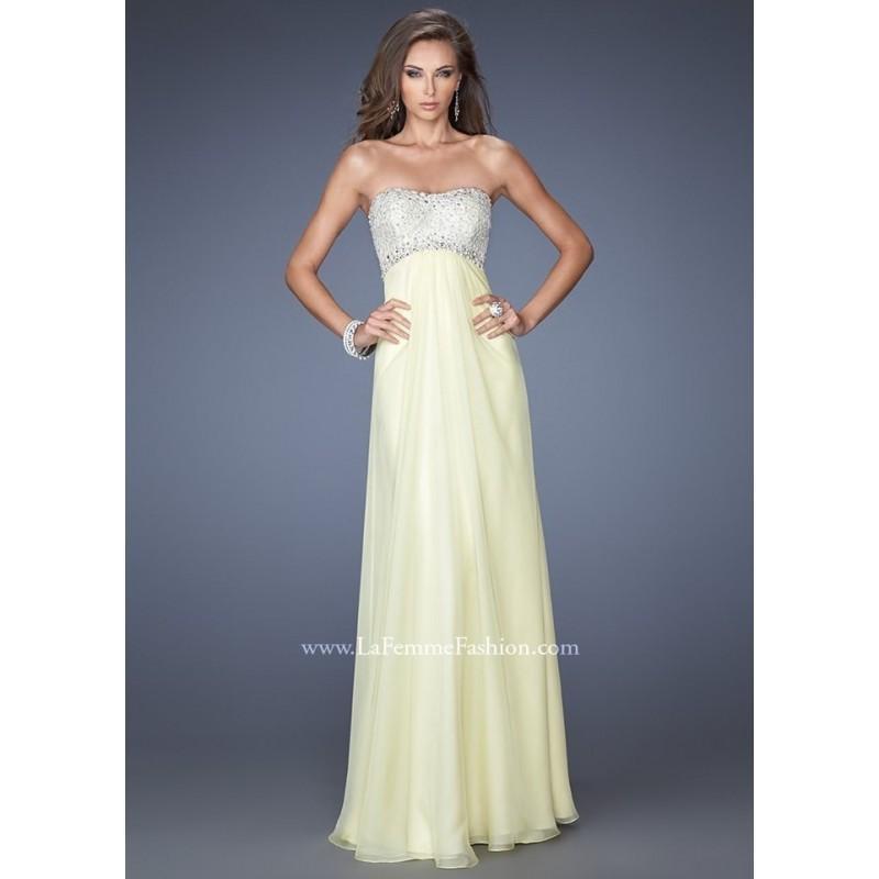 Wedding - La Femme 19902 Chiffon Evening Gown Website Special - 2017 Spring Trends Dresses