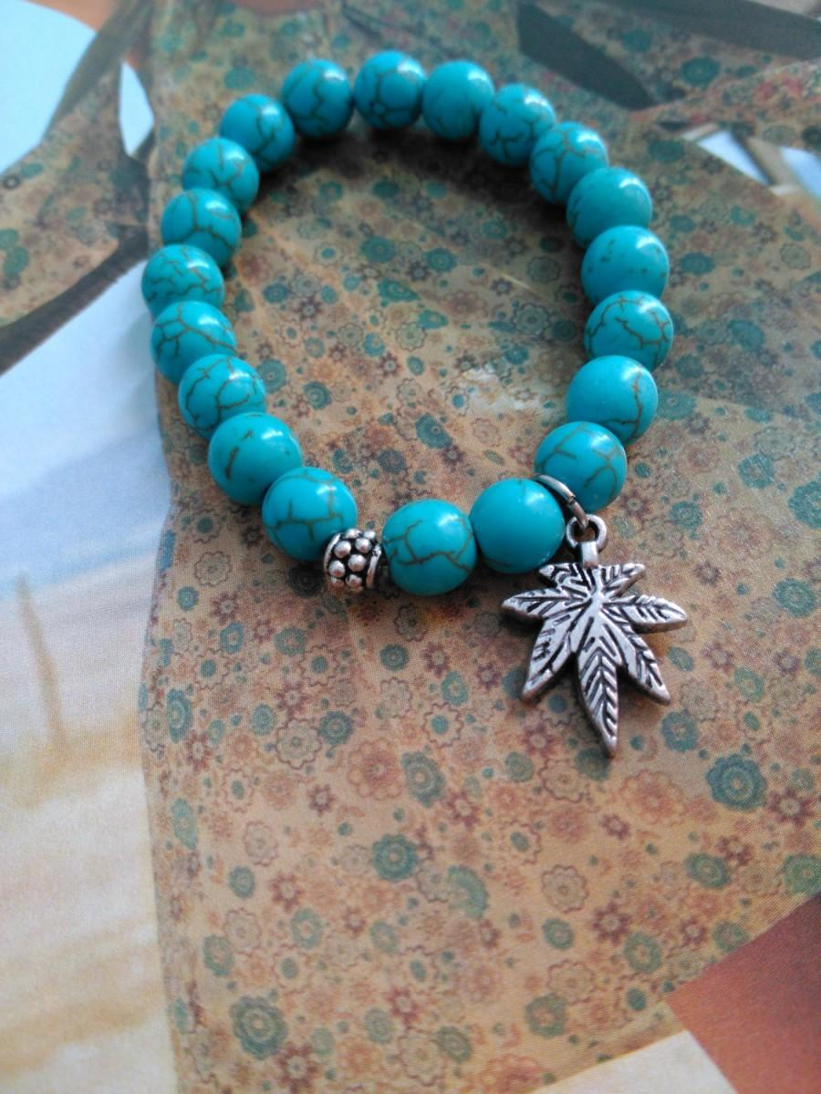 Turquoise Bracelet Gemstone Jewelry Beaded Healing Birthday Gift For Her Girlfriend Mom Wife 13