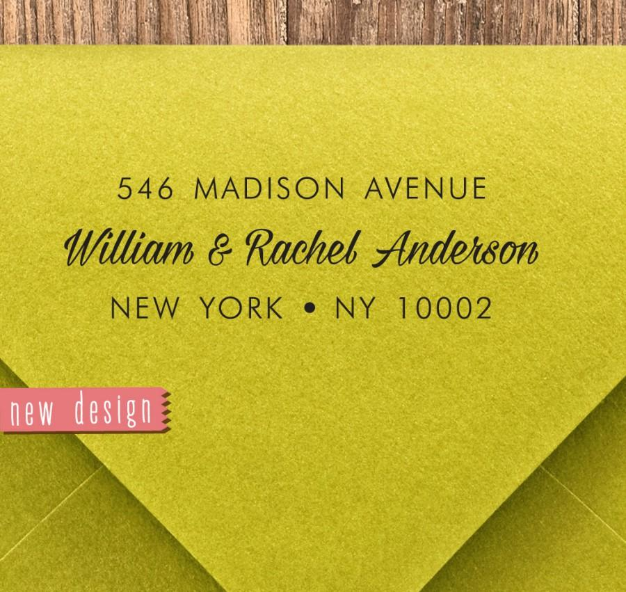 Mariage - CUSTOM pre inked address STAMP from USA, custom address stamp, pre inked custom address stamp, return address stamp with proof - Stamp b5-3
