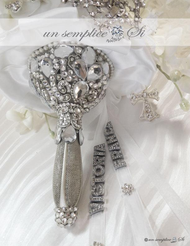Wedding - Swarovski Crystal  Bouquet Holder, Brooch Bouquet ,