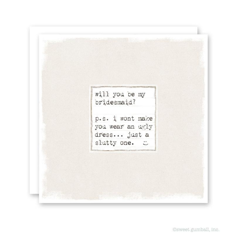 Mariage - Will You Be My Bridesmaid Card - Funny Bridesmaid Card - Wedding Card