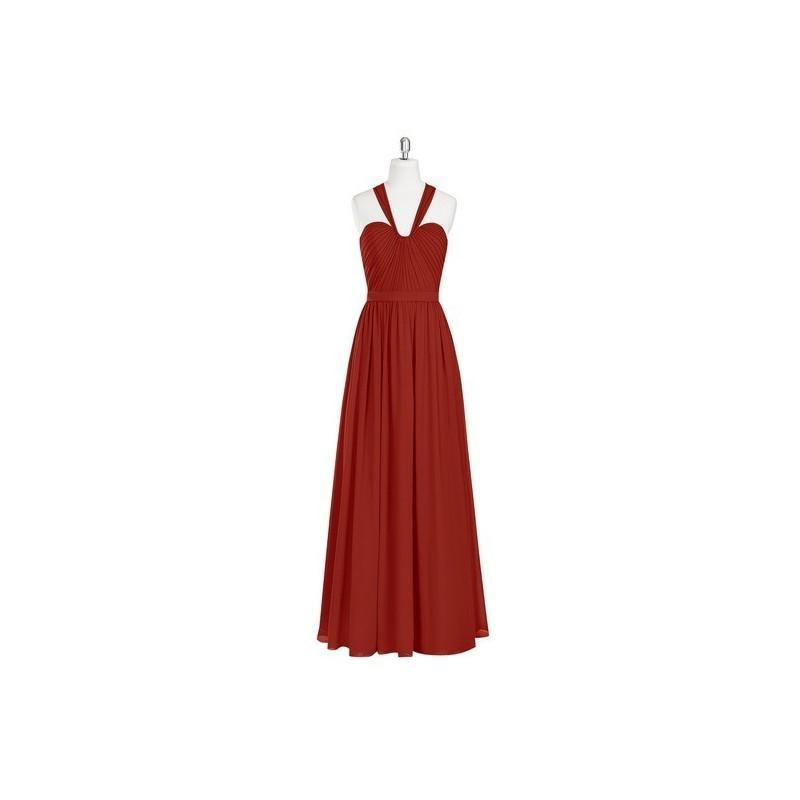 Свадьба - Rust Azazie Fatima - Floor Length Back Zip Chiffon Sweetheart Dress - Cheap Gorgeous Bridesmaids Store
