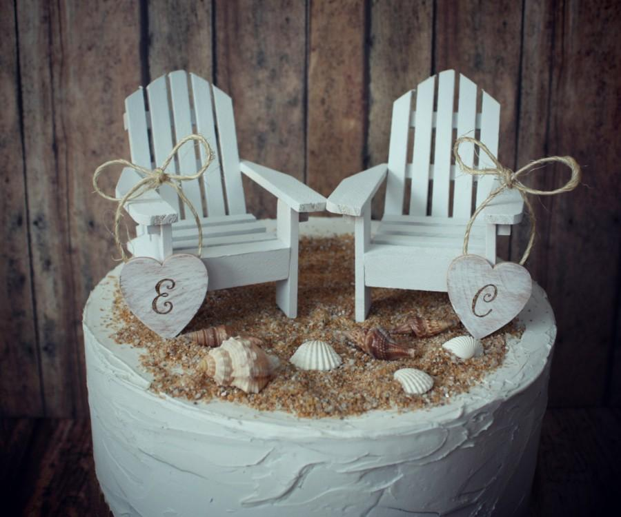 Adirondack Beach Wedding Chairs Miniature Adirondack Chairs Wedding Cake  Topper Beach Chairs Beach Wedding Destination Wedding Beach Custom