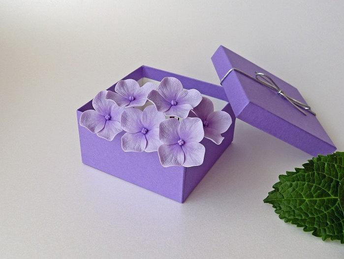 زفاف - Purple-Lilac Hydrangea Hair Pins (set of 6), Wedding hair accessories, Bridal hair flowers, Bride flower pins, hydrangea clip - NOT FRAGILE!