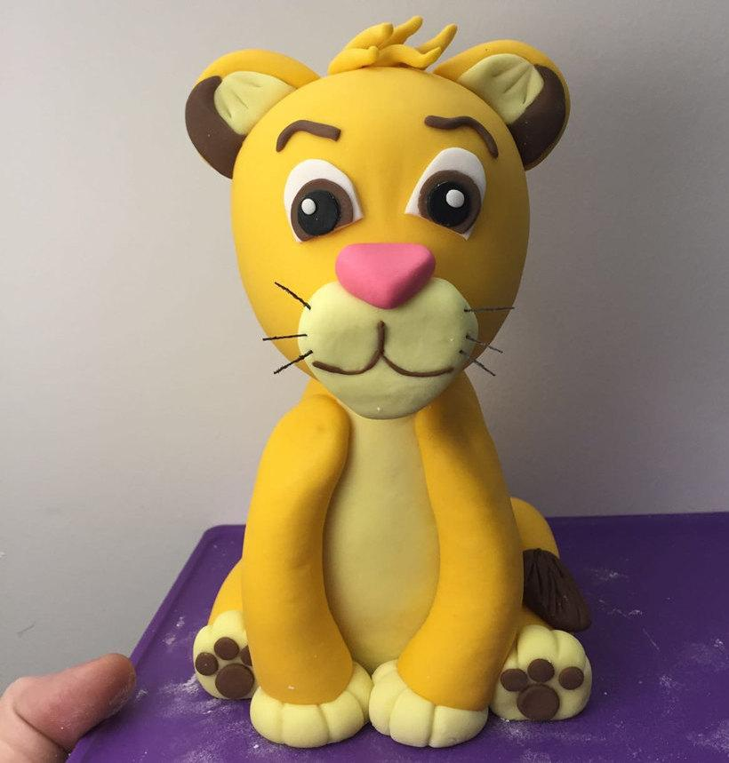"Mariage - Simba Baby Fondant Cake Topper. Ready to ship in 3-5 business days. ""We do custom orders"""