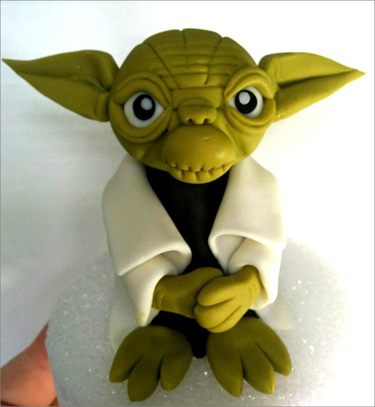 "Wedding - Yoda Fondant Cake Topper. READY To SHIP TODAY (Business days). ""We do custom orders"""