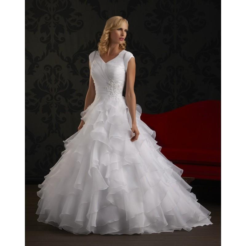 Bonny Love 6307 Modest Ball Gown Wedding Dress. In Stock. Size 4 ...