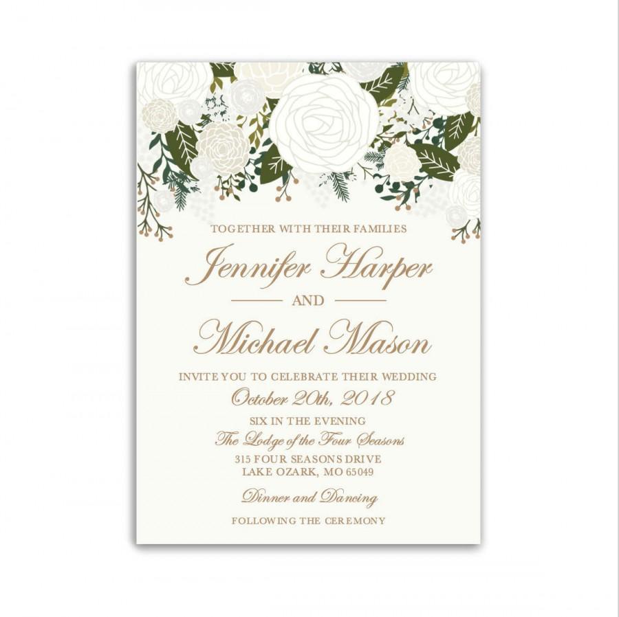 Wedding Invitation Template, DIY Wedding Invite, Cheap Wedding ...