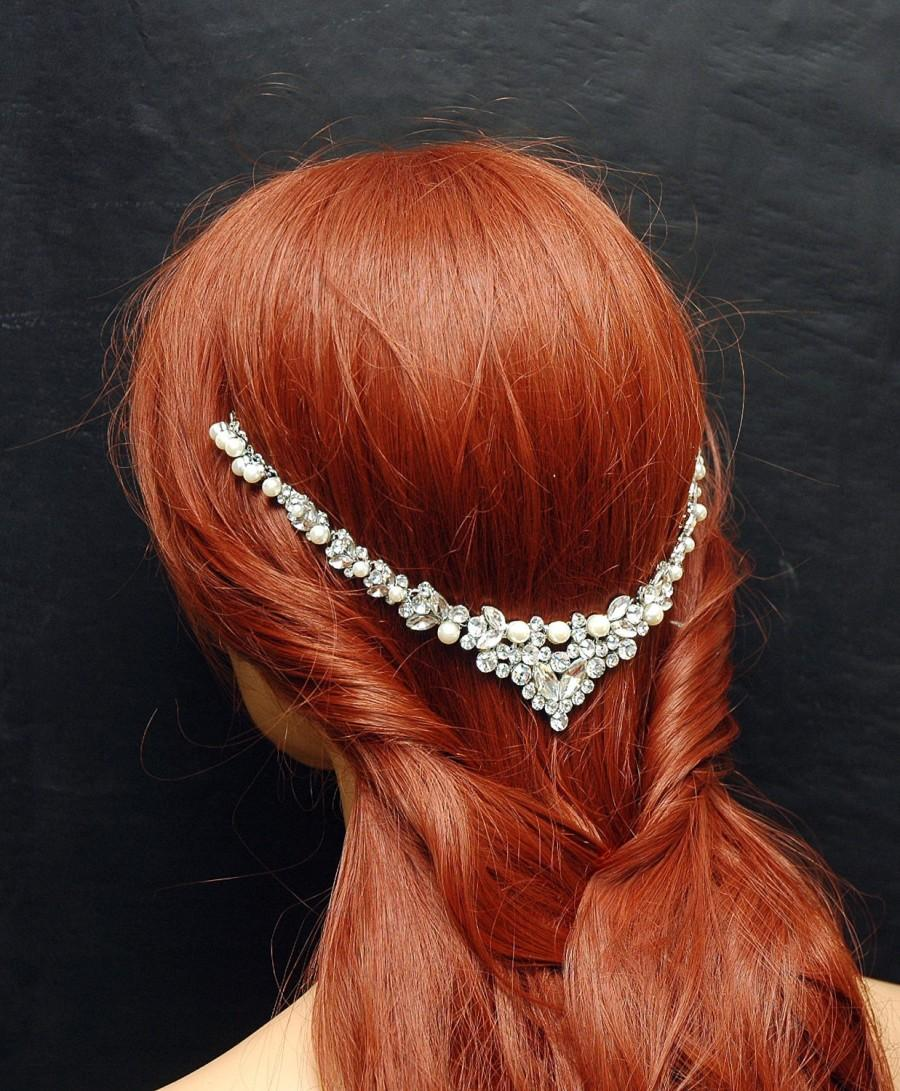 Mariage - Bridal Hair Accessories, Wedding Pearl Headpiece, Beach Wedding Headband, Wedding Hair Accessory Pearl Headband, Prom, Bridal Hair Jewelry - $67.00 USD