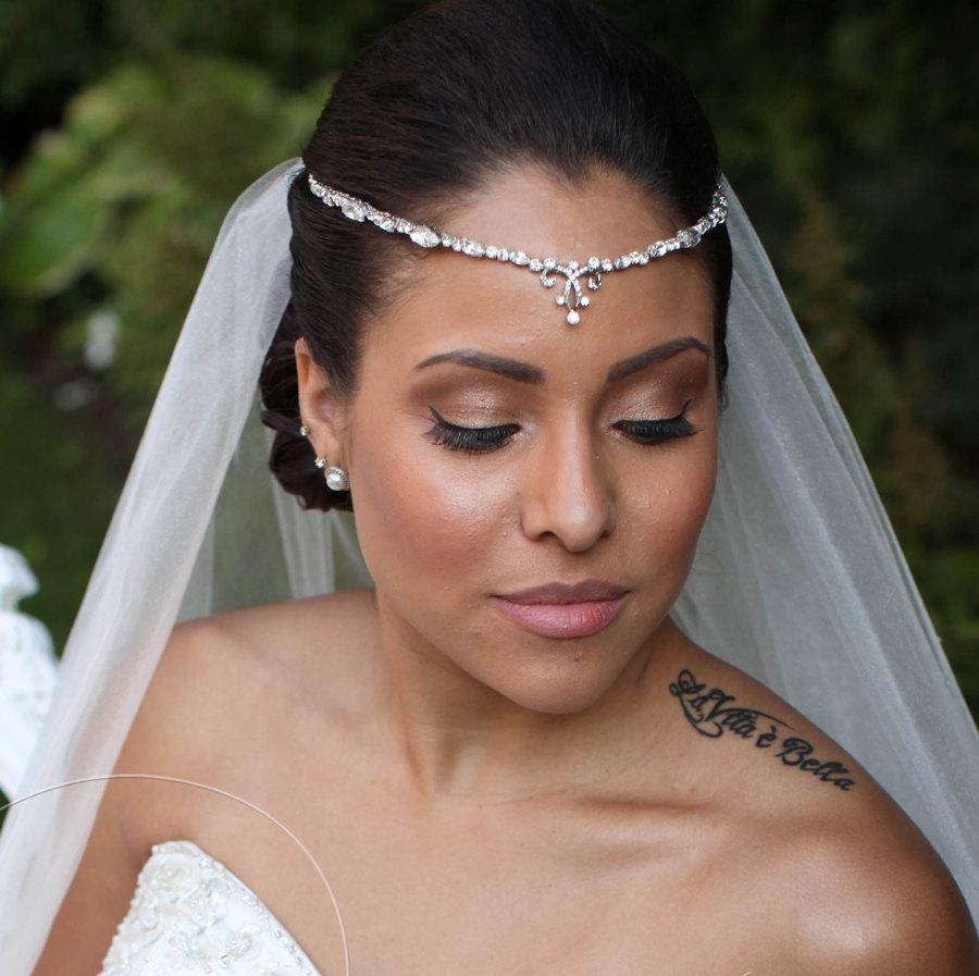 Wedding - Bridal Forehead Band ~ Bridal Headband ~ Rhinestone Hair ~ Swarovski Crystal Headpiece ~ Wedding Headband ~ Vintage Bridal ~Headpiece Heaven