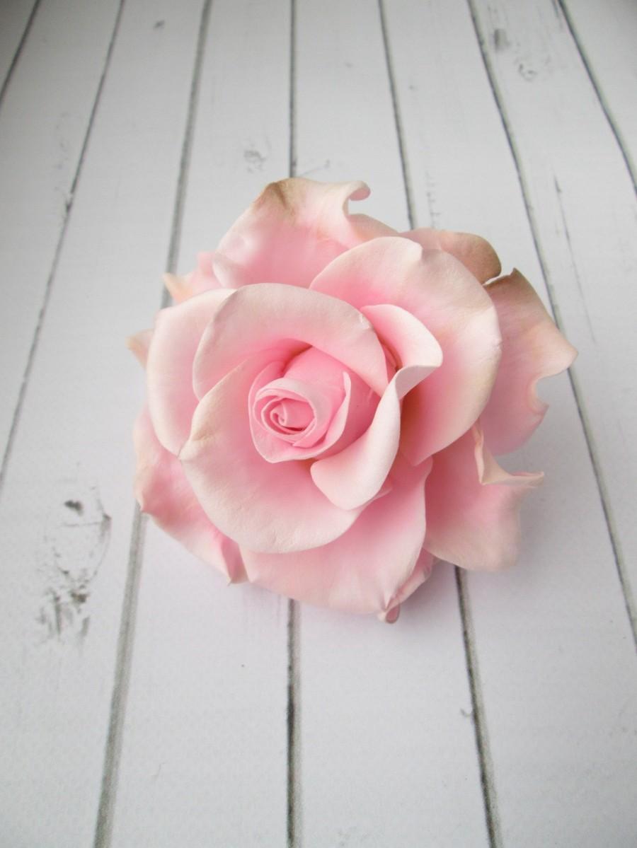 Свадьба - Pink Rose Hairpin - Flowers hair pin hair accessories - Rose Hair Piece - Wedding Hair Decoration - Hair Wedding Flowers
