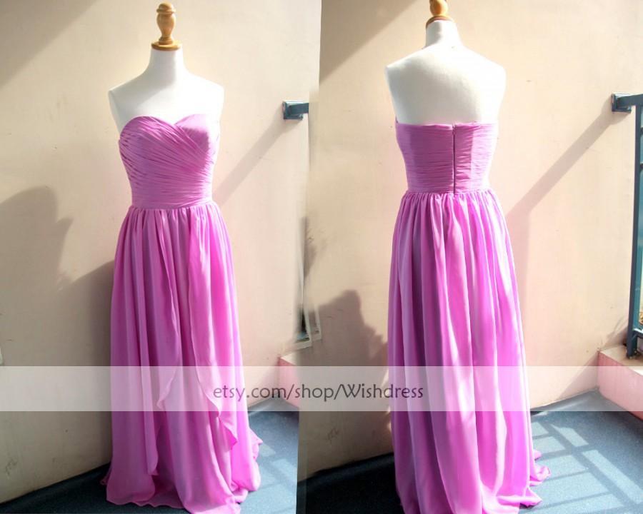 Wedding - Sales! Sweetheart  Floor Length Lilac Bridesmaid Dress Asymmetrical Hem/ Celebrity Dress/ Wedding Party Dress by wishdress