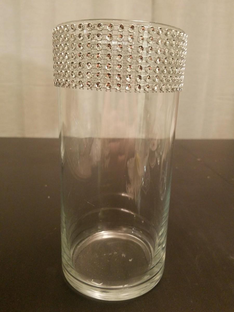 """Hochzeit - Rhinestone Vase - 7.5"""""""