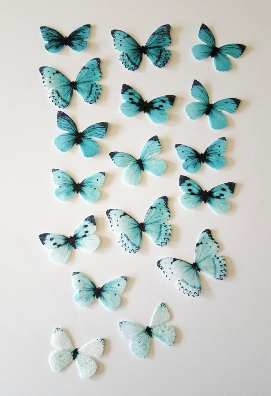 Hochzeit - Edible Butterflies, Ombre Double-Sided Wafer Paper Toppers for Cakes, Cupcakes or Cookies